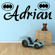 Batman Emblem with Any Personalised Name, Transfer, wall sticker, Kids Bedroom