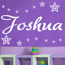Stars with Any Personalised Name, Transfer, wall sticker, Kids Bedroom (ZZ1)