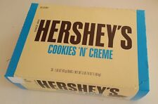 36/1.55oz HERSHEY'S Cookies N' Creme Candy Bars,Creamy White Chocolate,Hershey