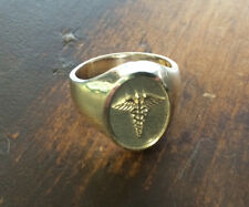 925. Sterling Silver Caduceus Medical Symbol Men Ring available size 6-14