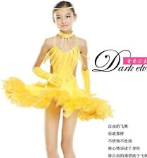 Childrens Latin Salsa Ballroom Dance Dress Girls Dancewear costumes #FY060