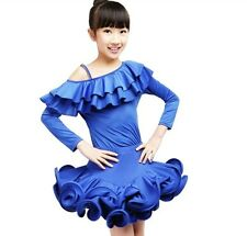Childrens Latin Salsa Ballroom Dance Dress Girls Dancewear costumes #FY042