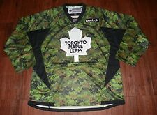 Toronto Maple Leafs Reebok Veterans Day Practice V-Neck Jersey New
