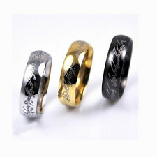 Fashion Lord Of The Rings Mens Women Band Ring Gold Silver Black Color Hot Sale