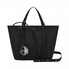 Calvin Klein Sofie Saffiano Leather Tote Bag Black