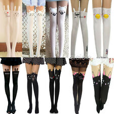 Women/girl Fashion Sexy Tattoo Sock Sheer Pantyhose Mock Stocking Tights Legging