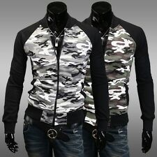 2014 new camouflage jacket collar cardigan men sweater Slim short coat M-XXL