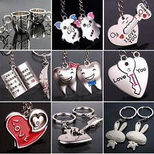 New Sweet Lover Key Ring Keyfob Couples Romantic Keychain Lover Gift Various