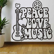 Peace LOVE Music wall Sticker Decal Transfer new design 3 sizes available
