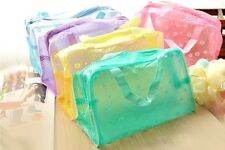 Cute Clear Waterproof Cosmetic Toiletry Kits Beach Totes bag Wholesales 5Colors