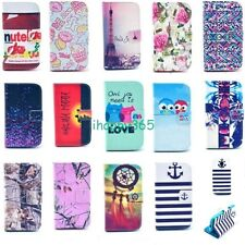 Flip Card Slot PU Leather Stand Case Cover Skin for Samsung Galaxy S4 mini i9190