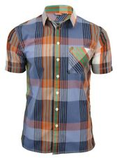 Mens Shirt by Bench 'Deansgate' Linear Check Short Sleeved