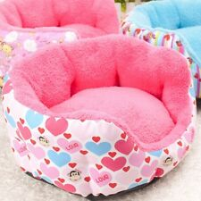NEW Sweet Soft&Warm Pet Dog Cat Sofa Bed Canvas Heart House Kennel 4types