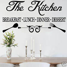 KITCHEN, Wall Sticker, Transfer, DECAL WallArt in 18 colours
