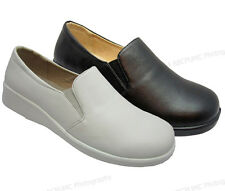 Womens Comfort Shoes Hotel Restaurant Walking Slip On Loafers Slip/Oil Resistant