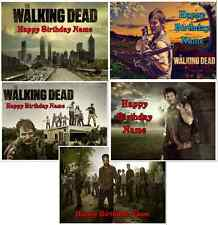 EDIBLE CAKE IMAGE  THE WALKING DEAD  ICING SHEET PARTY TOPPER  DARYL  RICK