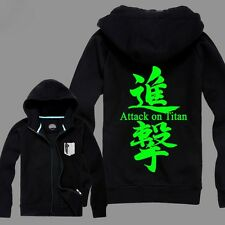 Attack on Titan Cotton Noctilucence Fluorescence Sweats Hoodies Coat
