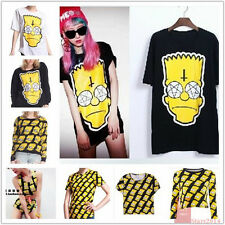 New 2014 Fashion Simpson head shirt women cartoon t shirt Yellow tops Wholesale