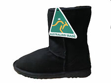 Australian Made Sheepskin UGG Boots Classic Short Men and Lady Black Colour