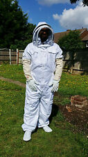 Beekeepers Beekeeping Bee Suit with Fencing Veil inlcuding Gloves UK Supplier