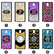 Personalized MONOGRAM GLITTER CASE COVER For Samsung Galaxy Note 2 3 II III