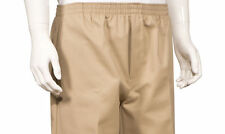 Men's Full Elastic Waist Pull-On Pants with Mock Fly-Khaki