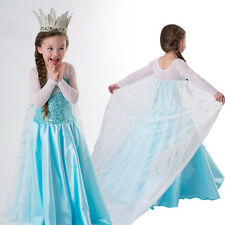 Frozen Prinzessin Elsa Kleid Kostüm Paillette Schneeflock Snowflake Sequin Dress