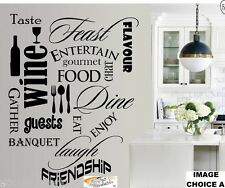 W047 ABC Wall Art Kitchen Dining Word Cloud Montage Living Room Vinyl Quote