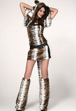 2014 fancy women party wear Teasing Tiger Costume Lady Animal Dress LC8716
