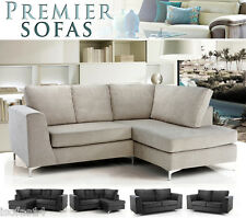 BRAND NEW STUDIO FABRIC SOFA CORNER SETTEE OR 3 + 2 SEATER SUITE FAST DELIVERY
