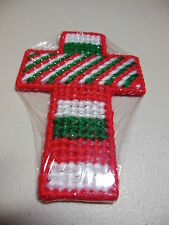 Handmade Plastic Canvas Needlepoint Ornaments or Wall Crosses, Great Gift Ideas