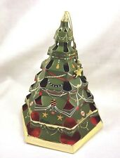 Greeting card pop-up cut out holiday CHRISTMAS TREE green or red ornament