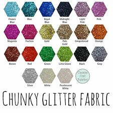 Chunky Glitter Fabric Mini Roll - High Quality - Choose your colour