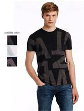 New Armani Exchange AX Mens Slim Muscle Fit Exploded Logo Tee Shirt e6x701
