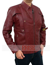 STARLORD Guardians of the Galaxy Chris Red Leather Jacket - Money Back Guarantee