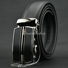 Men Automatic Buckle Business Waistband Casual Luxury Genuine Leather Belt dint