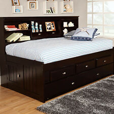 Discovery World Furniture Bookcase Daybed with 3 Drawers and Trundle