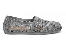 TOMS Silver Crochet Women's Classics All Sizes Available Brand New In Box
