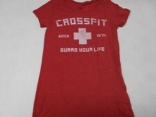 WOMENS REEBOK CROSSFIT SHIRT PERFORMANCE ATHLETIC S SMALL GUARD YOUR LIFE NEW