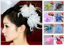 Bridal wedding wrist Flower Corsage Hair Clip Fascinator Hairband Pin brooch