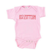 Led Zeppelin Baby T-Shirt Pink Girls Zoso Robert Plant One Piece Romper Snap Tee