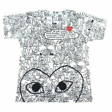 "COMME Des GARCONS CDG (26) ""PLAY RED HEART"" MEN'S SHORT SLEEVE T- SHIRT WHITE"