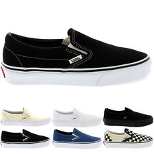Ladies Vans Classic Slip Canvas Slip On Holiday Plimsolls Trainers All Sizes
