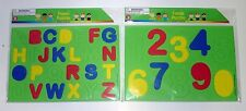 New 123s & ABCs Early Learning Letters Numbers Alphabet 2 Foam Puzzles Set