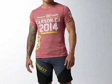 REEBOK CROSSFIT 2014 GAMES T-SHIRT - LIMITED EDITION - RED - S - XL