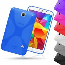 "X-LINE CLEAR TPU GEL CASE BACK COVER FOR SAMSUNG GALAXY TAB 4 7.0"" T230 T231"