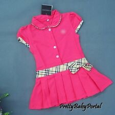 NEW GIRLS Baby Toddler Kid's  Clothes   Short Sleeve PINK One Piece Dress