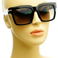 Large Retro Fashion Vintage Mens Womens Square Sunglasses Shades Black Pick Lens