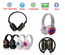 Rechargeable Digital Stereo FM Radio Headphone MP3 Player SD/TF Music With LCD