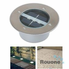 Solar Power LED Buried Light Lamp Outdoor Path Way Garden Under Ground Decking